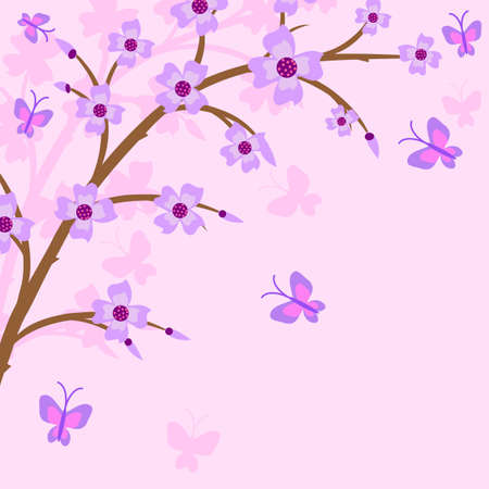 Branch of a plant, the Japanese style, background. To see similar, please visit my portfolio