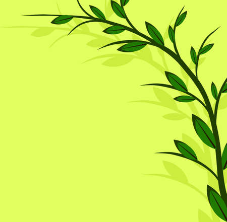 Branch of a plant, the Japanese style, background Stock Vector - 17822829