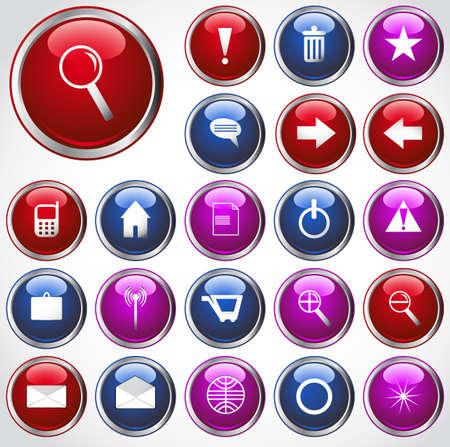 set of web buttons Illustration