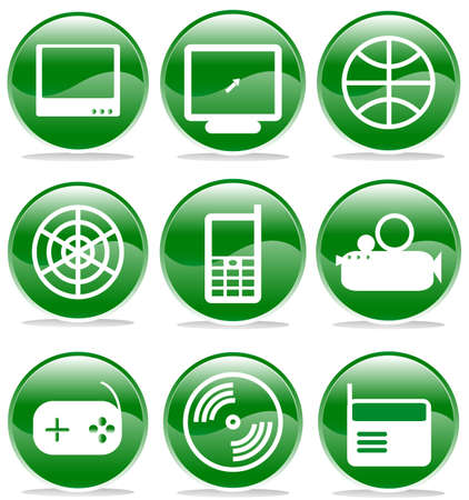 set of multimedia icons, buttons Stock Vector - 17822854