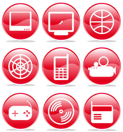 set of multimedia icons, buttons