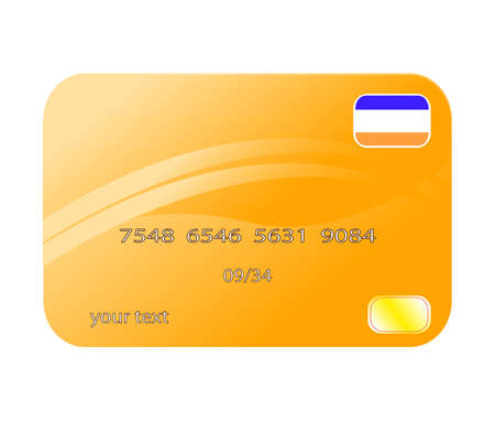 mastercard: Professional icon of a credit card Illustration
