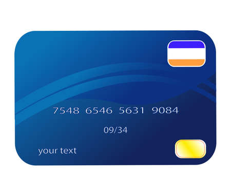 Professional icon of a credit card Illustration