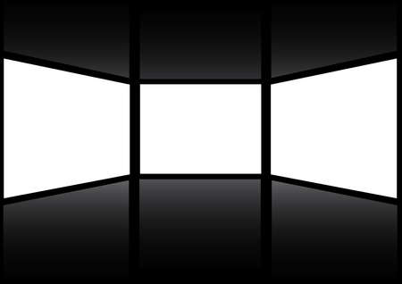 Three windows (screen) with a white background Stock Vector - 17822823