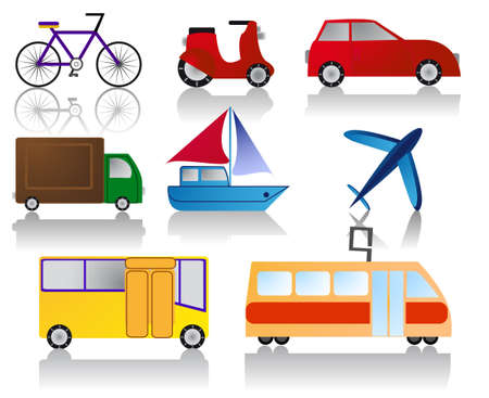 set of transportation icons Illustration