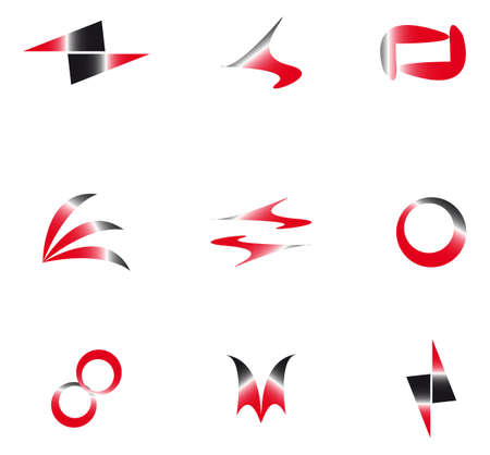set of abstract elements for design Illustration