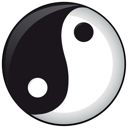good karma: Ying or Yang vector file Illustration