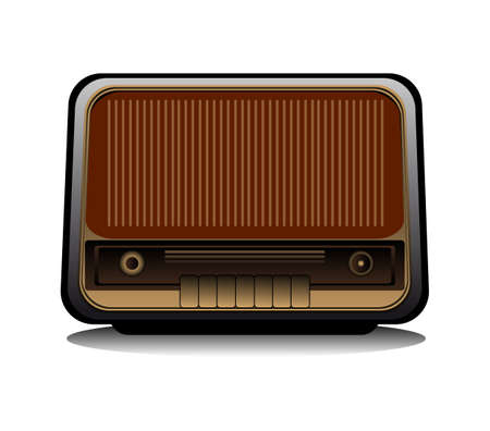 The image of a retro radio in a vector format Stock Vector - 17822881