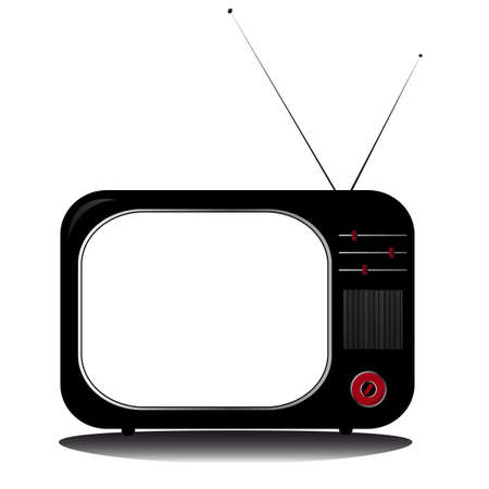 retro television coloured with antenns Stock Vector - 17822900