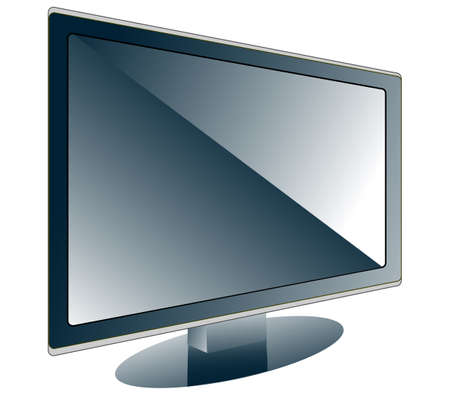 The image of the modern ardent TV in a vector format Stock Vector - 17822827