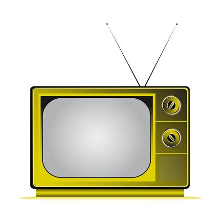 retro television coloured with antenns Stock Vector - 17822912