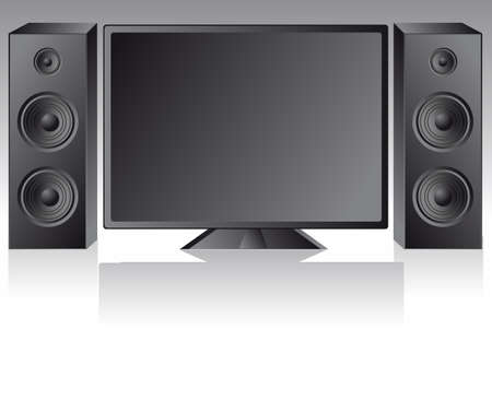 lcd vector tv with speakers Stock Vector - 17822850