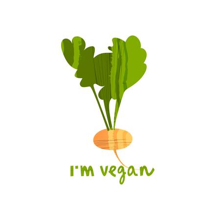 Vector illustration of turnip Ilustracja