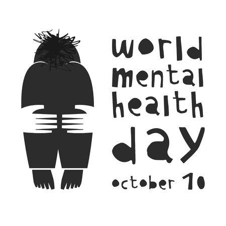 Mental health. Vector illustration