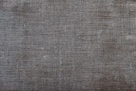 Natural eco gray linen background with copyspace