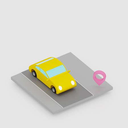 3D render isometric