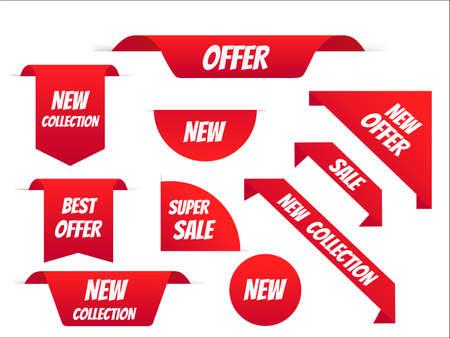 New tag ribbon and banner vector. Big sale special offer. end of season special offer banner. vector illustration. Vetores
