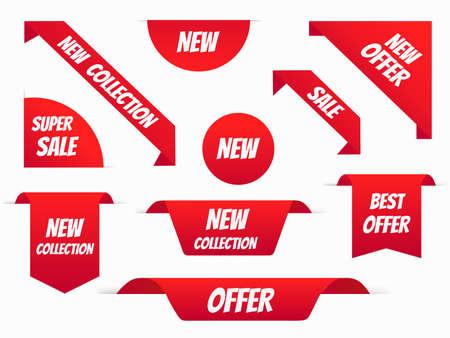 Vector Sale banner set template design, Big sale special offer, New, new collection, best offer.