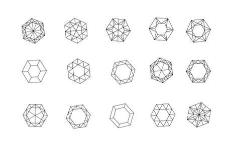 A set of diamonds in a flat style.
