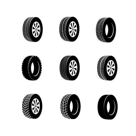 Tire or wheel for truck or bus, automobile tyre. Vulcanization or garage, rally sport or tire mount, car maintenance