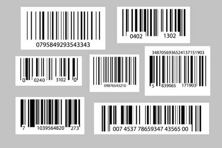 Barcodes collection. Vector code information. Industrial coding information.
