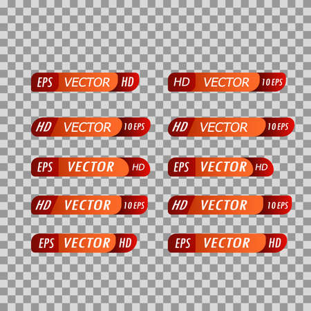 Set of banners of lower third. Television interface bar tv graphic on trasperent background Иллюстрация