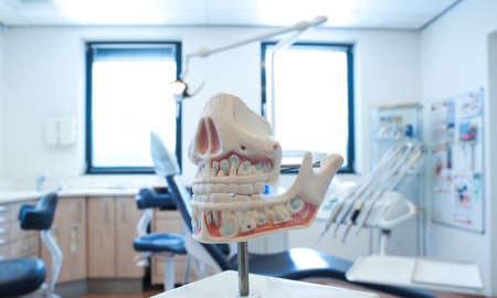 at the dentist office Stock Photo
