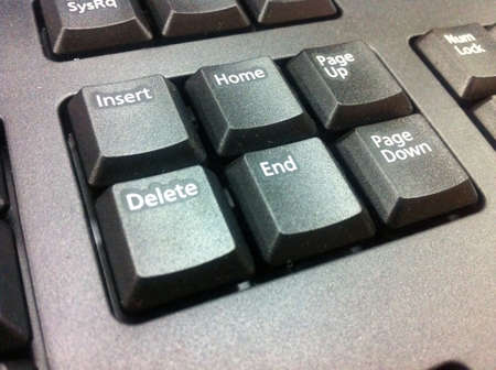 page down: Few button on keyboard computer Stock Photo