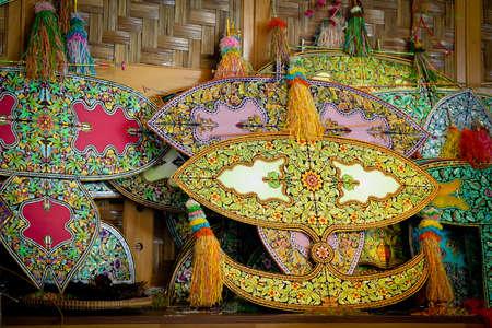 papalote: malasia nombre cometa tradicional wau Foto de archivo