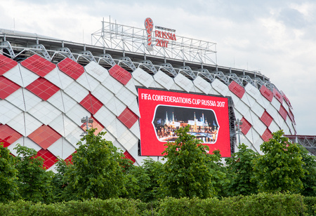 Spartak Stadium in Moscow where the matches of the FIFA Confederations Cup 2017 and the 2018 FIFA World Cup will be held. Editorial