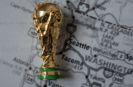 March 4, 2019, Seattle, USA. Seattle is one of the host cities of FIFA World Cup 2026 which will be held in the USA, Canada and Mexico.