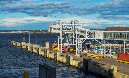 22 April 2019, Stockholm, Sweden. Passenger terminal in the port Vartahamnen in Stockholm. Redactioneel