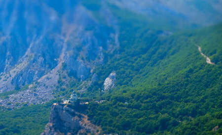 Church of the Resurrection of Christ on the edge of a cliff in the village of Foros in Crimea.