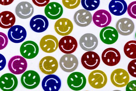 smileys: Many colorful smileys background