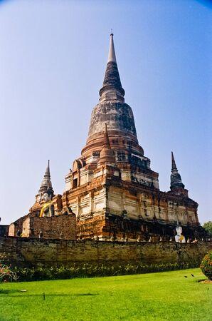 chaimongkol: Wat Yai Chaimongkol, Ayutthaya, Thailand Stock Photo