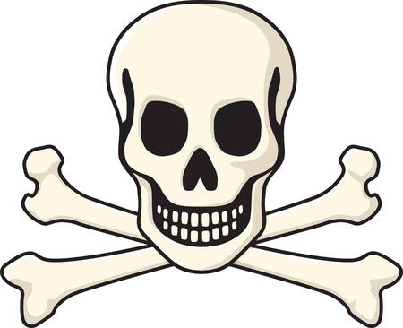 tete de mort: Cr�ne et os crois�s Illustration