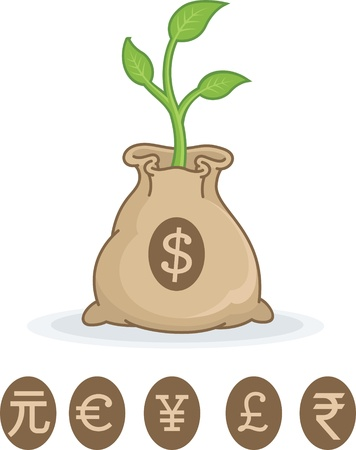 money: Grow your money Illustration