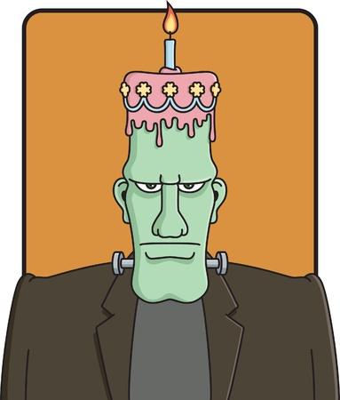 halloween party: Frankensteins Verjaardag Stock Illustratie