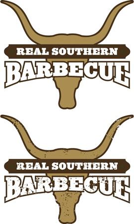 Southern Barbecue Symbol Icon Vettoriali