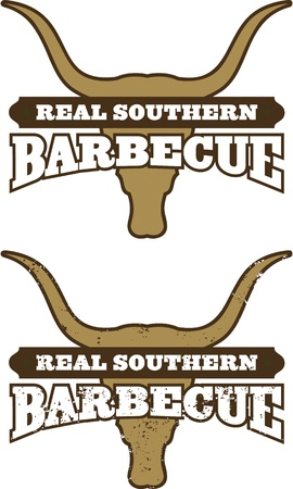 Southern Barbecue Symbol Icon 矢量图像