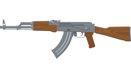 Illustration of an assault rifle or sub-machine gun  Иллюстрация