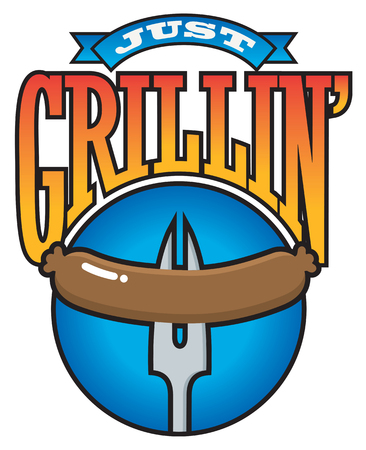 Just Grillin? Barbecue Party Vector Graphic