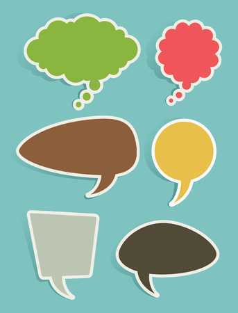 Set of Vector Speech and Thought Bubbles or Balloons