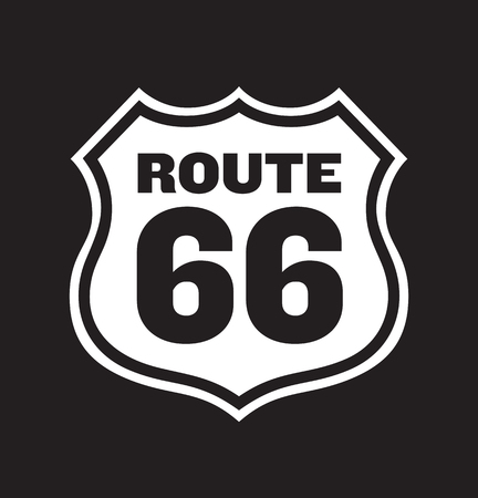 66: Route 66 Road Sign illustration.
