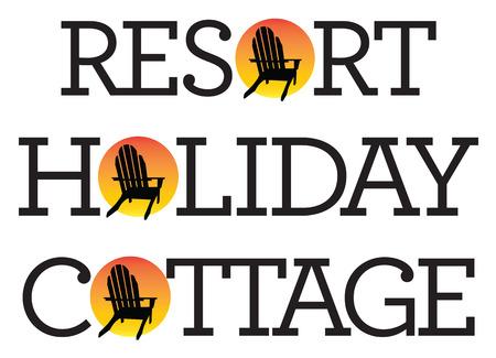 Adirondack Chair Holiday Graphics.
