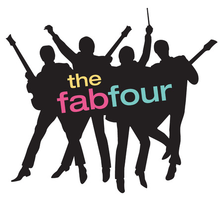 Fab Four freinds Silhouette  Illustration