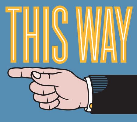 Esta ilustración a mano con un dedo que apunta el puntero sobre la base de las impresoras clásico. Foto de archivo - 60238613