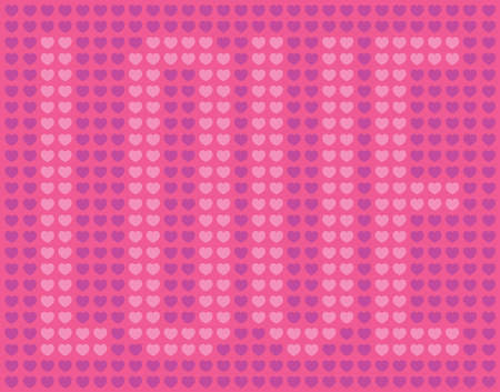 Love Heart Design. Pattern of vector hearts spelling the word love