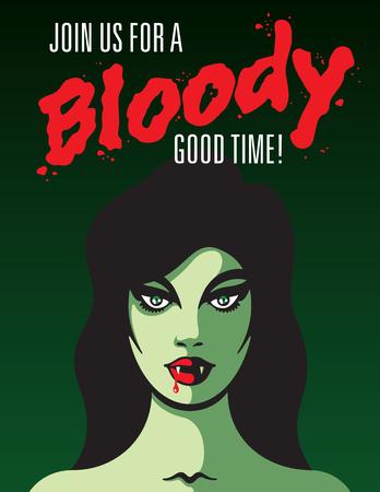 뱀파이어 여자 아이콘입니다. 일러스트