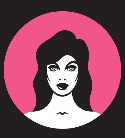 Pretty woman icon.